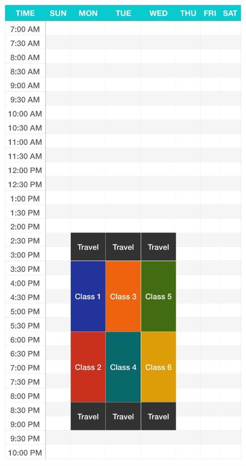 Jadwal Kuliah - Sekilas Pandang