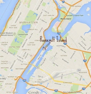 Posisi Roosevelt Island