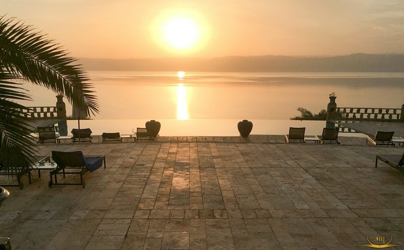 Sunset in Dead Sea